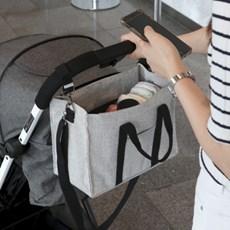 코니테일 마티네 숄더백 캔버스 - 모던블랙 (유모차 기저귀가방)