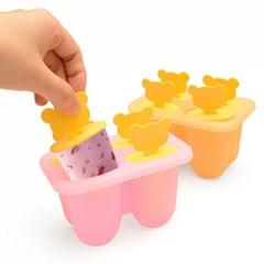 플라이토 실리콘 곰돌이 아이스크림틀 몰드