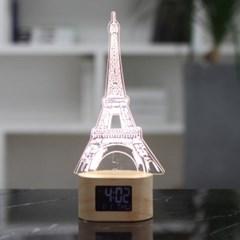 플라이토 아크릴 무드등 LED 탁상시계_(1389616)