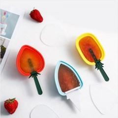 과일모양 실리콘 아이스크림틀 1개(디자인랜덤)