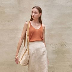 LOOSE-FIT KNIT SLEEVELESS_BROWN
