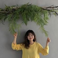 [조화] 월데코 가랜드 (조화야자 & 자연가지)