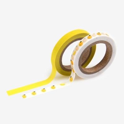 Masking tape slim 2p - 10 Lemon