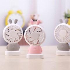 플라이토 LED 토끼 휴대용 핸디선풍기_(1388654)