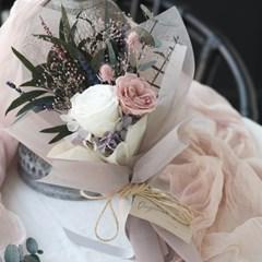 모카그레이 프리저브드플라워 장미꽃다발