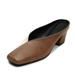 kami et muse Half combi middle heel  mule slippers_KM19s351