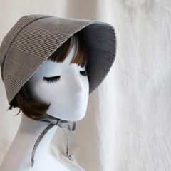 소녀감성 체크 보닛햇 girlish check bonnet hat