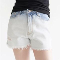 [pants] 워시드 컷팅 숏 데님_(1311745)