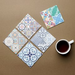 타일 디자인 다용도 사각 컵받침 냄비받침 1P-10type_(1106659)