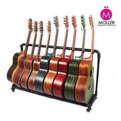 9단 기타스탠드 이동식 바퀴형 기타받침대_(1351603)