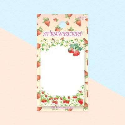 디원 딸기 점착메모지(JP13)