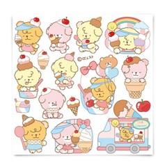 [또자] 아이스크림 댕댕 스티커 (8장)