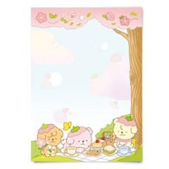 [또자] 벚꽃 댕댕 메모지