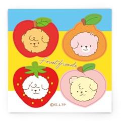 [또자] 댕댕 과일 돔송 (4장)