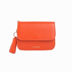 [미니태슬증정]Dijon N301R Round Card Wallet Coral Orange
