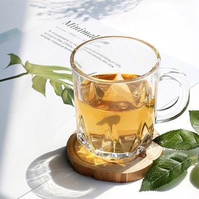 크랙유리머그컵 / 카페 홈카페 음료 물 맥주 유리 머그 잔 컵