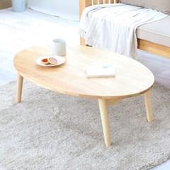고무나무 100%원목 접이식 거실 좌식 대형 테이블-라운드