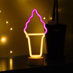 어반LED 네온 아이스크림 스탠드 무드등_(1360429)
