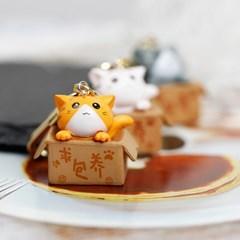 [핸드메이드] 쁘띠 상자 고양이 에어팟 키링_(1042537)