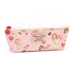 Oil-cloth pouch P_heart pink
