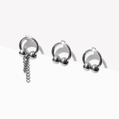 더블 벨 귀걸이 3Set (무니켈침)