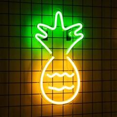 어반 LED 네온 파인애플 BIG 벽걸이 무드등_(1360663)