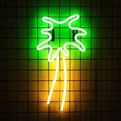 어반 LED 네온 야자나무 BIG 벽걸이 무드등_(1360662)