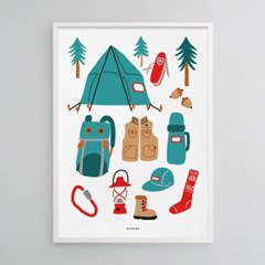 유니크 인테리어 디자인 포스터 M 고 캠핑2 아웃도어 라이프