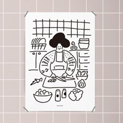 유니크 인테리어 디자인 포스터 M 오늘의 요리 식당 맛집