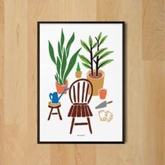 유니크 인테리어 디자인 포스터 M 홈 가드닝 식물 보태니컬