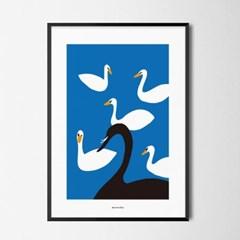 유니크 인테리어 디자인 포스터 M 블랙스완 영화