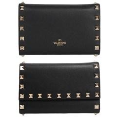 19FW 발렌티노 락스터드 지갑 (블랙) SW2P0S41 BOL 0NO