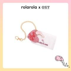 [OSTX로라로라] 핑크키 핑크글리터 하트키링 카드지갑 OTK119803AYW