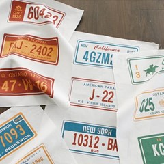 [Fabric] 2012 New License plate linen illust cut
