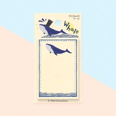 디원 고래 점착메모지(YP02)