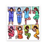 잠옷 스티커 - girls