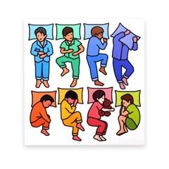 잠옷 스티커 - boys