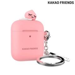 카카오 피규어 키링형 에어팟1/2케이스 어피치 핑크