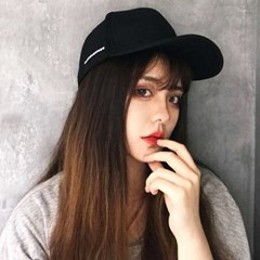 문문 여성 레터링 얼굴소멸 볼캡 연예인모자_(2243247)
