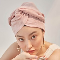 Linen Pink Turban