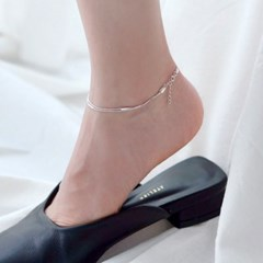 (92.5 silver) double chain anklet