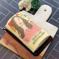 🎉 축하디자인 커스텀 롤케이크 (15*9cm) 🎉