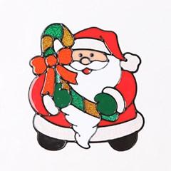 지팡이산타 글라스스티커 중 20cm 크리스마스 TRMBLS_(1389934)