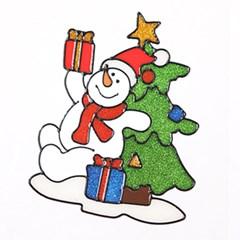 트리눈사람 글라스스티커 대 20cm 크리스마스 TRMBLS_(1389927)
