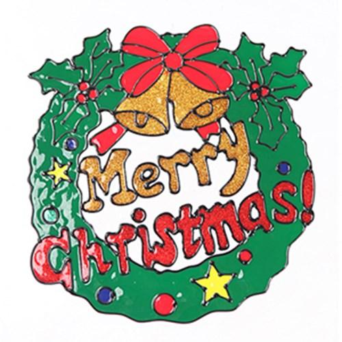 리스 글라스스티커 특대 28cm 크리스마스 장식 TRMBLS_(1389925)