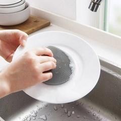 욕실 주방 청소 설거지 위생적인 TPR 실리콘 수세미_(1070339)