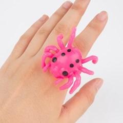 LED 할로윈 젤리반지 거미 [핑크]_(11786281)