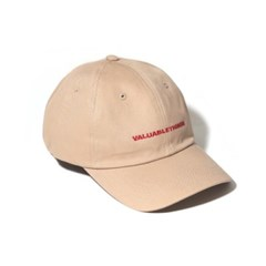VALUABLE CURVED CAP-BEIGE
