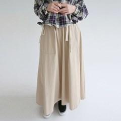 maxi cotton belt skirts (3colors)_(1317034)
