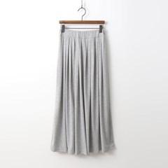 Easy Pleats Long Skirt